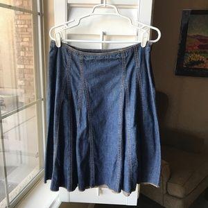 GAP A-Line Denim Skirt